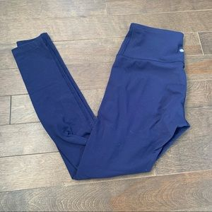 Yogalicious navy blue leggings size small